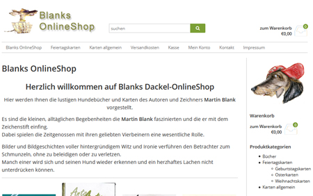 blanks dackel onlineshop